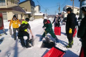 流雪溝を活用した除雪